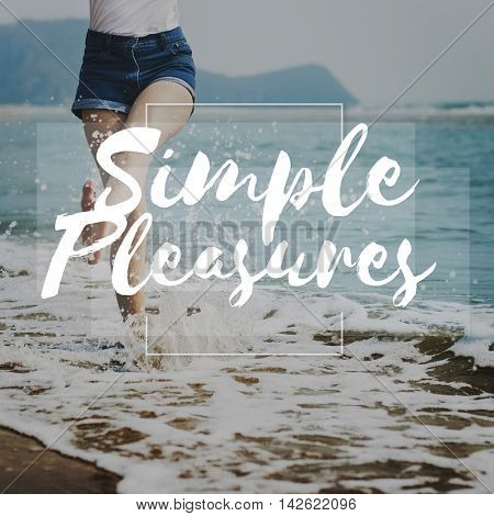 Simple Pleasure Clarity Simplify Pleasure Simpler Concept