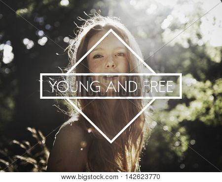 Young Adult Young and Free Young Concept