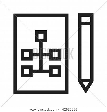 Drawing, structure, hierarchy icon vector image. Can also be used for web. Suitable for mobile apps, web apps and print media.