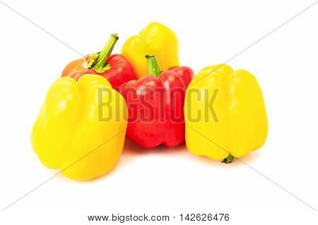 Group Of Yellow And Red Peppers