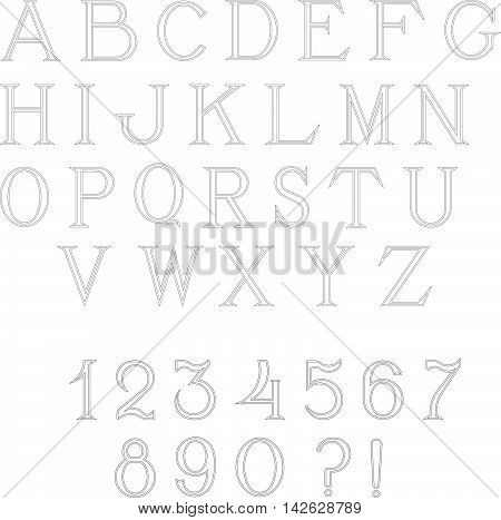 Simple and elegant handcrafted alphabet capital letters