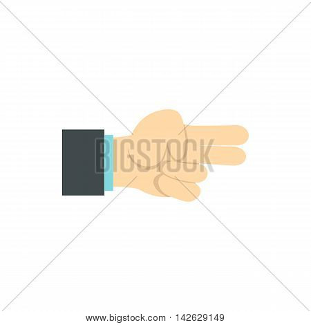 Gesture index and middle finger together icon in flat style isolated on white background. Gestural symbol