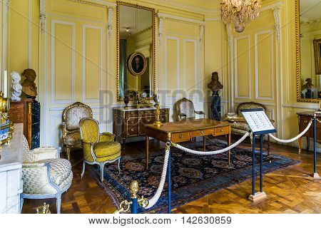 PARIS, FRANCE - MAY 13, 2015: This is one of the installations interior rooms 18th-19th centuries in the Carnevalet Museum.