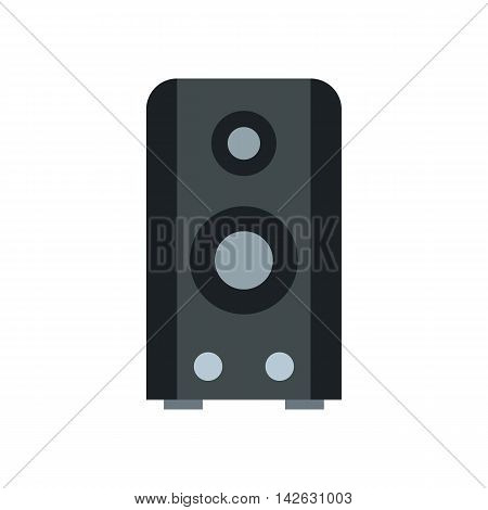 Music column icon in flat style isolated on white background. Sound symbol