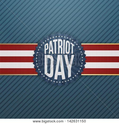 Patriot Day paper festive Emblem. Vector Illustration