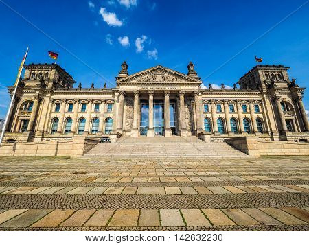 Reichstag Parliament In Berlin Hdr