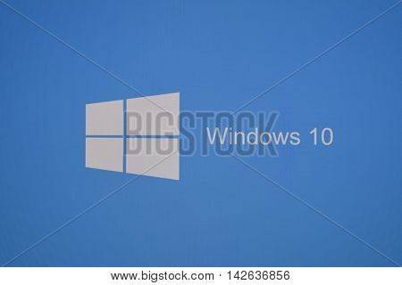 The Logo Screen In Windows 10 Operating System.