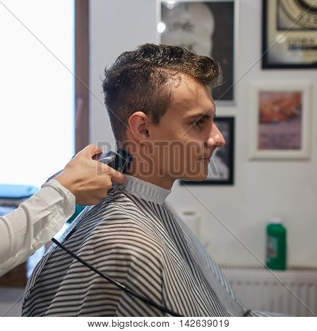 Teenager Getting A Haircut