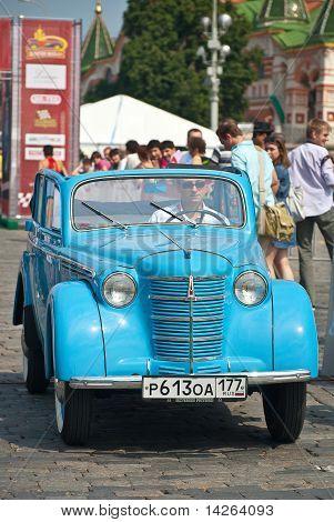 Blue Moskvich (vintage Car Ussr)