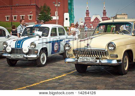 Two Gaz Volga (vintage Car Ussr)