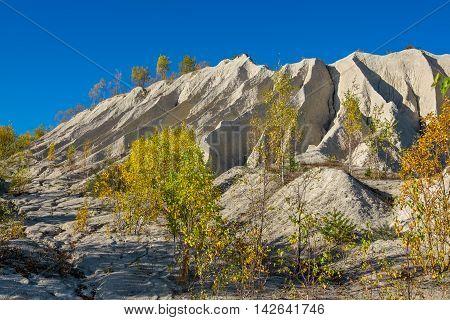 Sand hill of abandoned quarry. Rummu Estonia EU