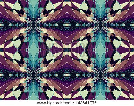 Fractal artwork for creative design. Abstract fractal ornament
