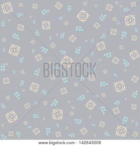 Beautiful floral background with flowers and leaves