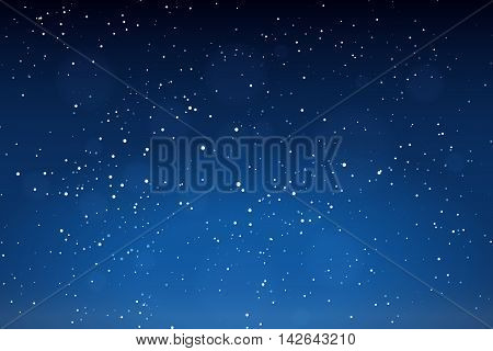 Falling snow background. Winter snowed sky vector illustration