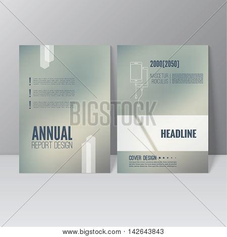 Brochure annual report. Cover for journal, book, magazine. Leaflet Flyer A4 size template design. Layout illustration poster, booklet, postcard. Vector. title flier headline
