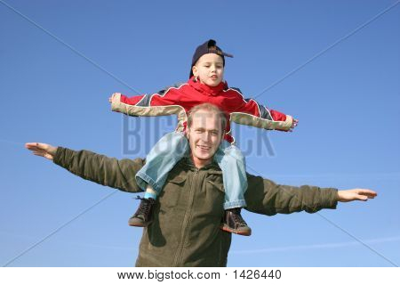 Fly Father With Son
