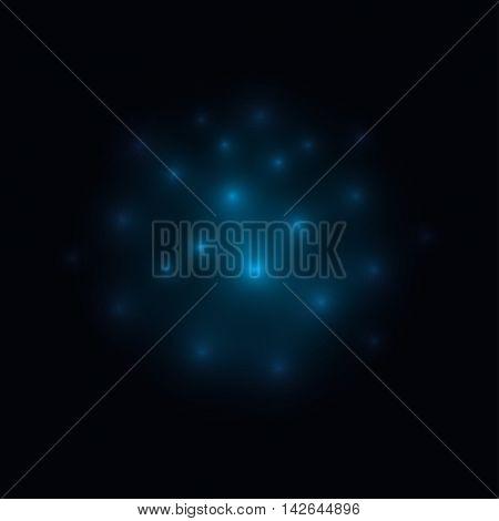 Fireflies Blue  Background