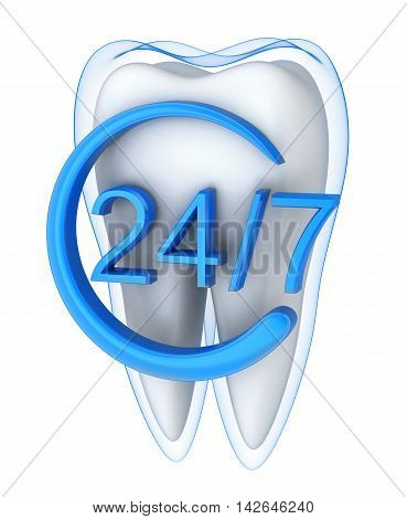 Abstract protect tooth and blue shell (done in 3d rendering)