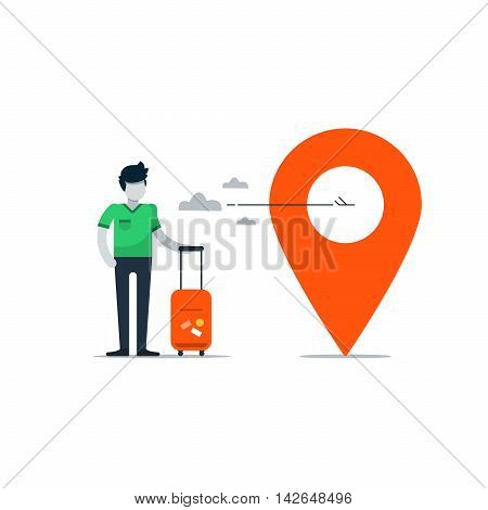 Travel tour company concept, vacation destination illustration