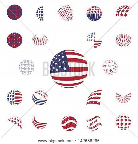 Spherical symbols Flag of the United States