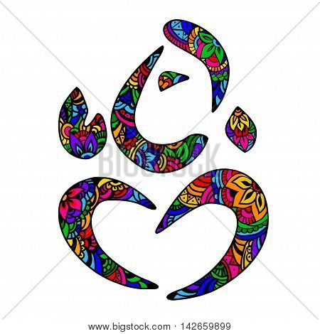 Vector Lord Ganesha in the style of mehendi. Can be used for tattoos postcards posters and print applied to the fabric.