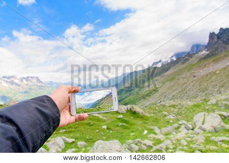 Smartphone Photo Of Aiguile De Mont Blanc
