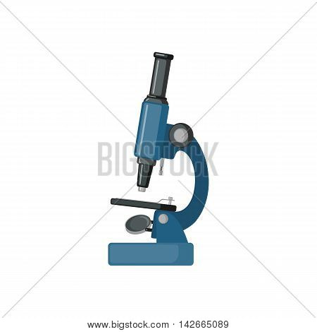 Microscope icon in flat style isolated on white background. Vector illustration