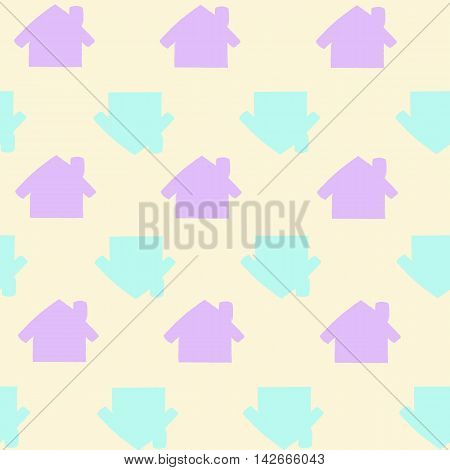 seamless brand new home pattern house illustration in vector. Home sweet home house. can be used as background for a journal, postcards, ads, linens or Wallpaper