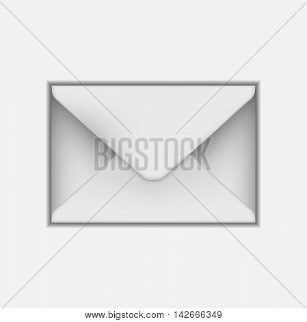 Blank paper envelope for your design. Vector envelope template. Vector illustration.