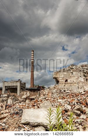 Ruins of Paper Mill in Kalety Silesia Poland.