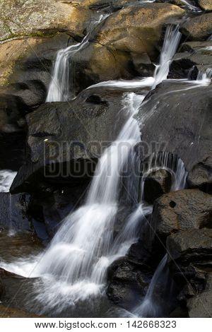 Waterfall flowing down over rocks