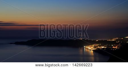 View On Arillas Agiou Georgiou (corfu Island) By Sundown