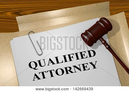 Qualified Attorney - Legal Concept