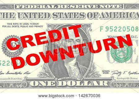 Credit Downturn Concept