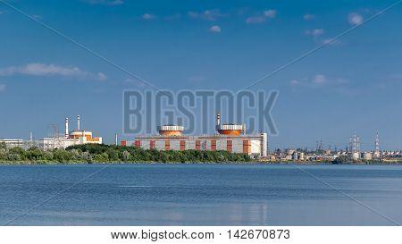 South Ukrainian Nuclear Power Plant. The nuclear power plant near the town of Yuzhnoukrainsk. Ukraine