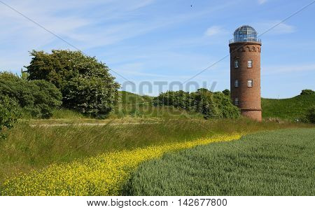 Cape Arkona light house tower on Ruegen Island. Germany
