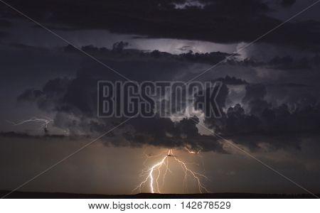 lightning, lightnings, flash. rain, thunderstorm, night, flash at night