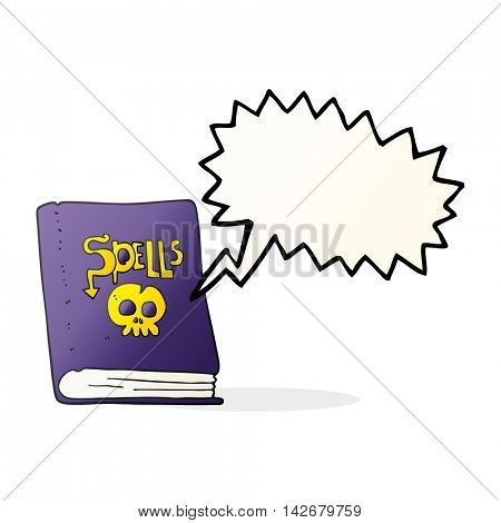 freehand drawn speech bubble cartoon spell book