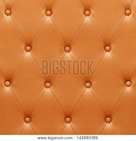 Pattern Of Orange Leather Seat Upholstery