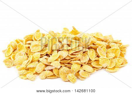 Cornflakes isolated on the a white background.