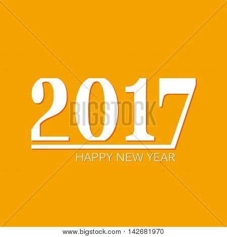 Happy new 2017 year background. Template for your new year design. Vector illustration.