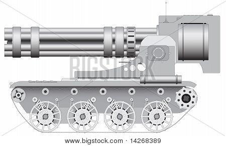 Fantastic Gun On Crawler - Illustration Eps8