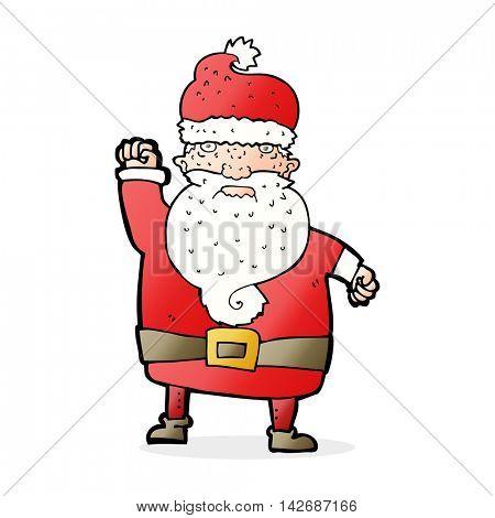 cartoon angry santa claus