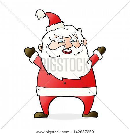jolly santa cartoon