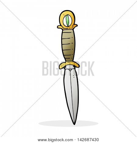 cartoon mystic dagger