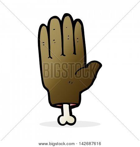 cartoon severed hand