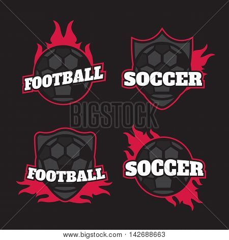 Set of soccer football crests and logo emblem eps10