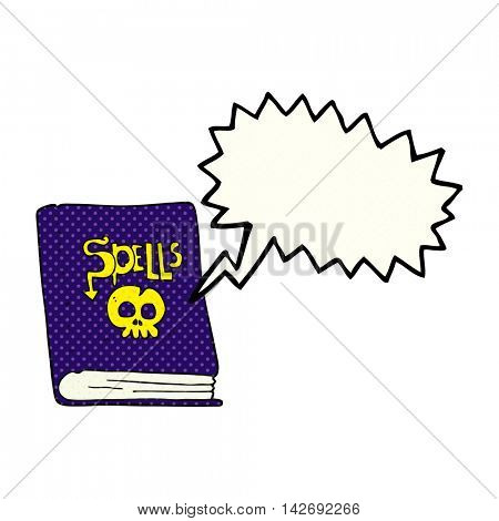 freehand drawn comic book speech bubble cartoon spell book
