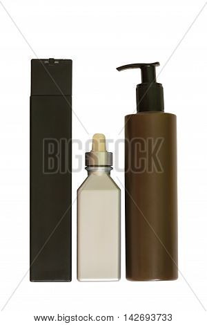 Bottle with gel for men isolated, on a white background
