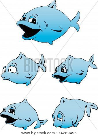Cute Blue Fish